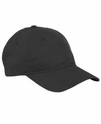 Big Accessories BX880 6-Panel Unstructured Hat BLACK