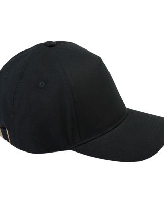 BX034 Big Accessories 5-Panel Brushed Twill Cap BLACK