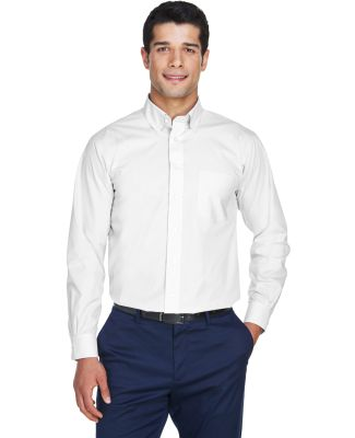 D620 Devon & Jones Men's Crown Collection Solid Br WHITE