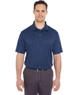 8220 UltraClub Men's Cool & Dry Jacquard Stripe Po NAVY