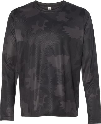 M3009 All Sport Men's Performance Long-Sleeve T-Sh Black Laser Camo