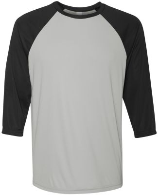 M3229 All Sport Men's Baseball T-Shirt Sport Silver/ Black
