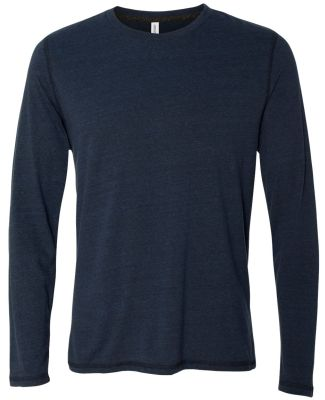 M3102 All Sport Men's Performance Triblend Long-Sl Navy Heather Triblend