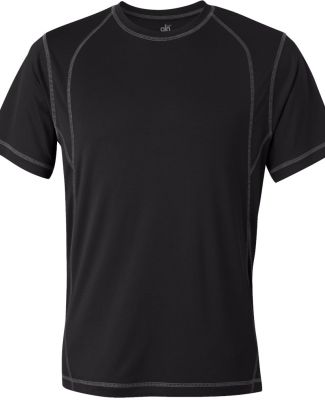 M1021 All Sport Men's Short-Sleeve Interlock Piece Black/ Slate