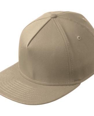 NE401 New Era® Flat Bill Stretch Cap Stone