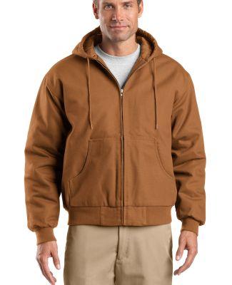 TLJ763H CornerStone® Tall Duck Cloth Hooded Work  Duck Brown