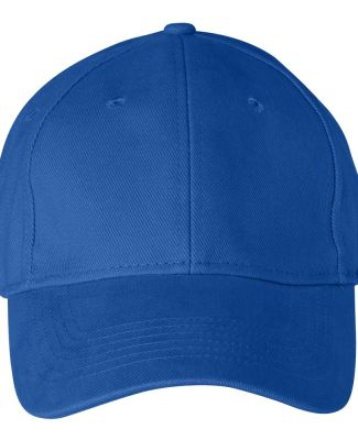 136 Anvil Cotton Solid Six-Panel Brushed Twill Cap Royal
