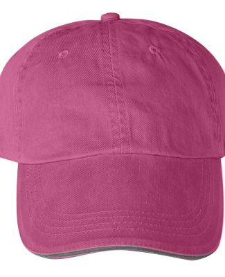 Anvil 166 Sandwich Trim Hat  Flamingo