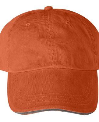 Anvil 166 Sandwich Trim Hat  Tangerine