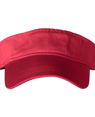 158 Anvil Solid Three-Panel Low-Profile Visor Red