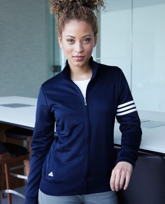 A191 adidas - Ladies' ClimaLite® 3-Stripes French Terry Full-Zip Jacket Catalog