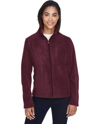 78190 Core 365 Journey  Ladies' Fleece Jacket BURGUNDY