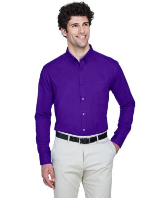 88193 Core 365 Operate  Men's Long Sleeve Twill Sh CAMPUS PURPLE