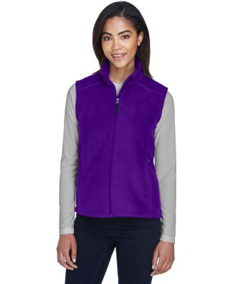 78191 Core 365 Journey  Ladies' Fleece Vest CAMPUS PURPLE
