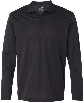 A186 adidas - ClimaLite Long Sleeve Polo Black/ White
