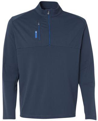 A195 adidas - Mixed Media 1/4 Zip Jacket Rich Blue/ Bright Royal
