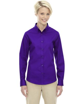 78193 Core 365 Ladies' Operate Long-Sleeve Twill S CAMPUS PURPLE