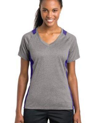 LST361 Sport-Tek® Ladies Heather Colorblock Contender™ V-Neck Tee Catalog