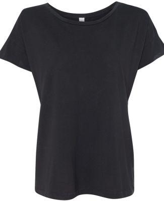 Alternative Apparel 4134 Womens Rocker Fashion T-S Black