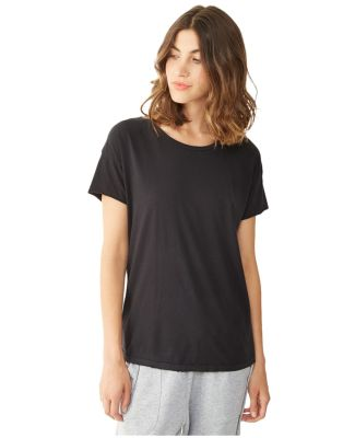 Alternative Apparel 04861C1 Ladies Distressed T-Sh SMOKE