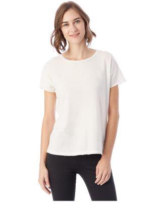 Alternative Apparel 04861C1 Ladies Distressed T-Sh Vintage White