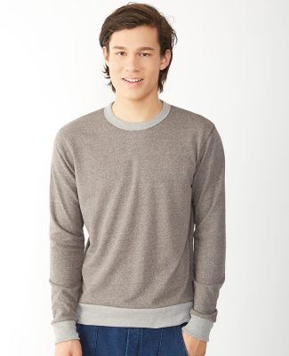 Alternative Apparel 9898 Mens Ringer Sweatshirt Catalog