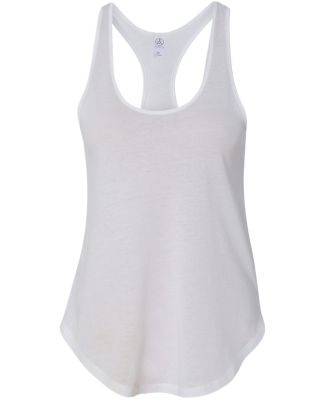 Alternative Apparel 04031C1 Ladies' Shirtail Tank WHITE