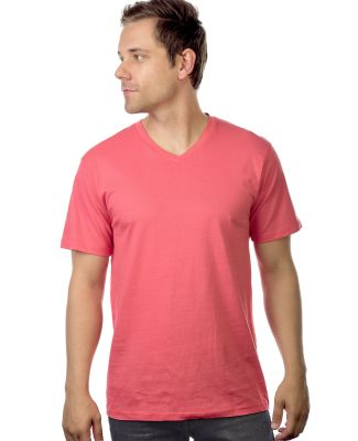MC1047 Cotton Heritage Men's Chicago Cotton V-Neck Coral