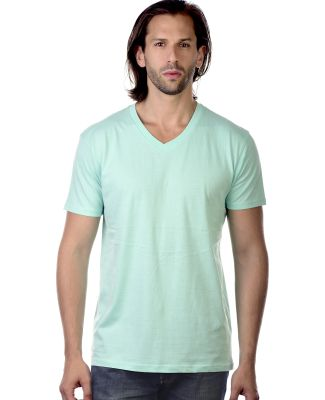 MC1047 Cotton Heritage Men's Chicago Cotton V-Neck Mint