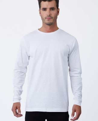 MC1144 Cotton Heritage Men's Indy Long Sleeve Tee White