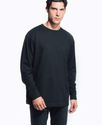 MC1144 Cotton Heritage Men's Indy Long Sleeve Tee Black