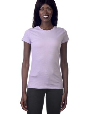LC1025 Cotton Heritage Juniors Crew Neck Tee Lavender