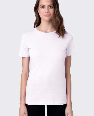 HC1025 Womens Cotton Crew Neck Tee White