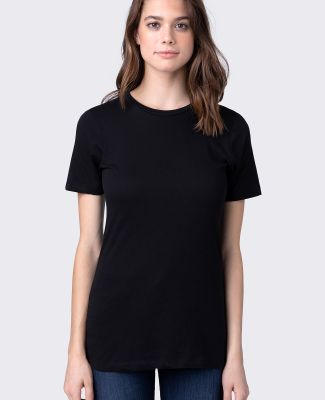 HC1025 Womens Cotton Crew Neck Tee Black