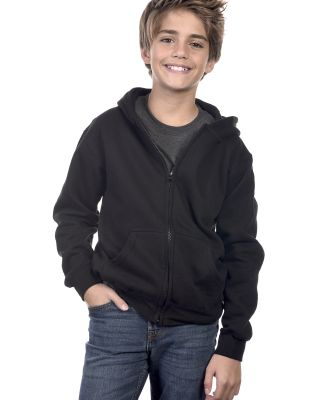 Y2700 Cotton Heritage Spokane Unisex Youth Zip Up  Black