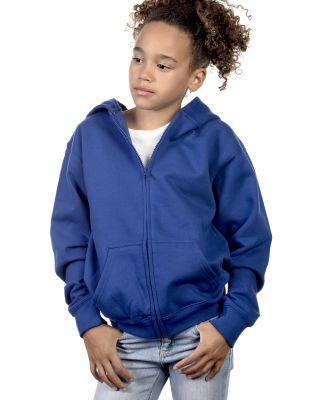 Y2700 Cotton Heritage Spokane Unisex Youth Zip Up  Royal