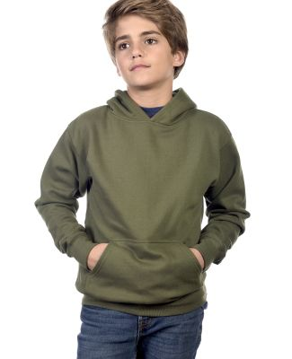 Y2600 Cotton Heritage Tyler Unisex Youth Pullover Military Green