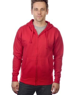M2700A Cotton Heritage Springfield Unisex Zip Up H Red