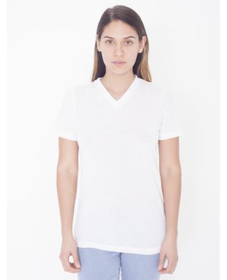 American Apparel PL356W Ladies' Sublimation Classic Short-Sleeve V-Neck T-Shirt White