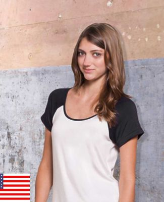 in_your_face R003IN In Your Face R03/Ladies Flowy Short Sleeve Raglan