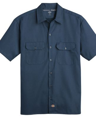 Dickies Workwear WS675 Men's FLEX Relaxed Fit Short-Sleeve Twill Work Shirt