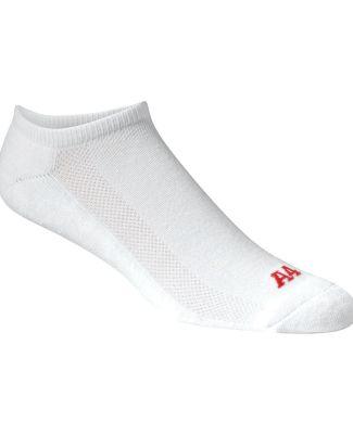 S8001 A4 Performance No-Show Socks WHITE