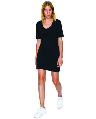 American Apparel SA2314W Ladies' Fine Jersey Short-Sleeve T-Shirt Dress Black