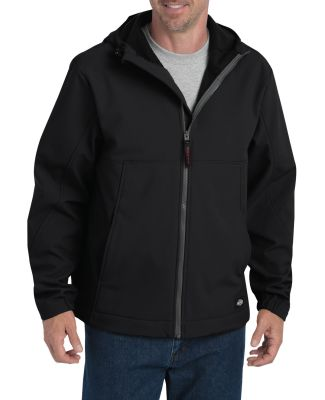 Dickies Workwear SJ377 Men's Performance Flex Soft Shell Jacket with Hood BLACK