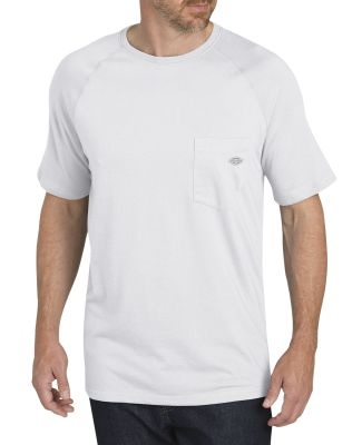 Dickies Workwear SS600 Men's 5.5 oz. Temp-IQ Performance T-Shirt WHITE