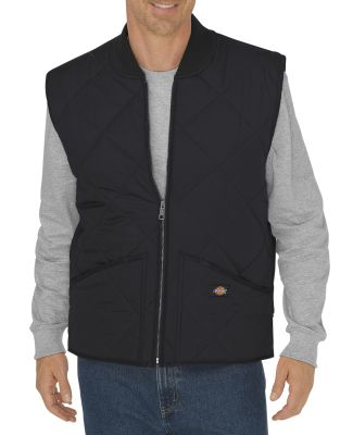 Dickies Workwear TE242T Unisex Tall Diamond Quilted Nylon Vest BLACK