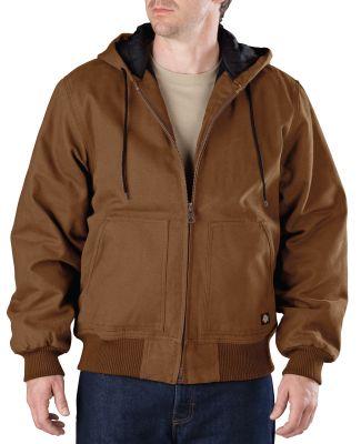 Dickies Workwear TJ245 Men's Sanded Duck Hooded Jacket BROWN DUCK