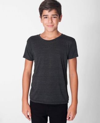 American Apparel TR201W Youth Triblend Short-Sleeve T-Shirt Tri Black