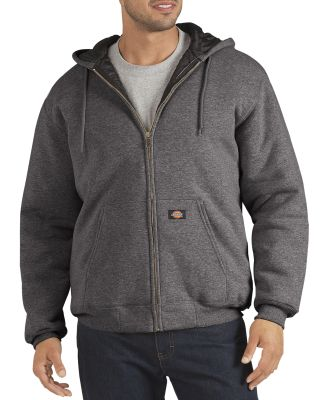 Dickies Workwear TW394 Unisex Heavyweight Quilted Fleece Hoodie DARK HEATHER GRY