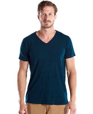 US Blanks US2228O Men's 5.2 oz. Short-Sleeve Triblend Layer-Dyed V-Neck BLUE GREEN
